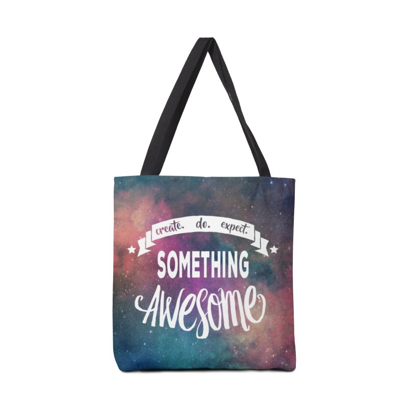 Something Awesome Accessories Bag by donvagabond's Artist Shop