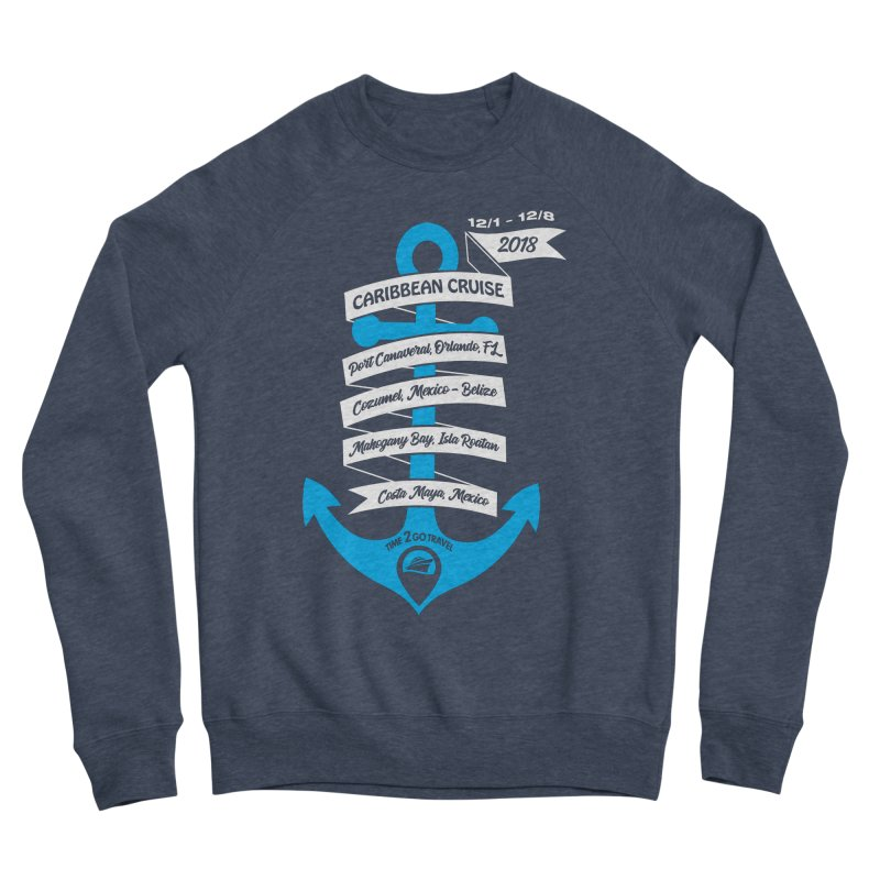 Caribbean Cruise (Time 2 Go) Men's Sponge Fleece Sweatshirt by donvagabond's Artist Shop