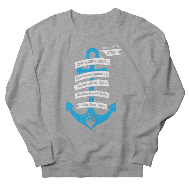 Caribbean Cruise (Time 2 Go) Men's French Terry Sweatshirt by donvagabond's Artist Shop