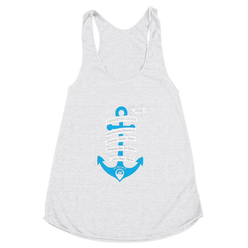 Caribbean Cruise (Time 2 Go) Women's Racerback Triblend Tank by donvagabond's Artist Shop