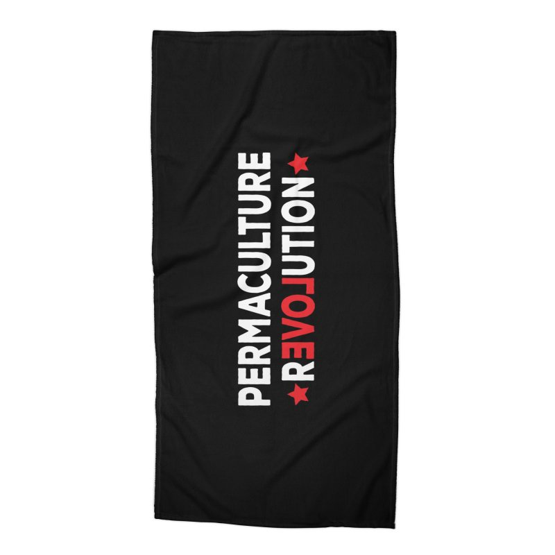 Permaculture Revolution (White) Accessories Beach Towel by donvagabond's Artist Shop