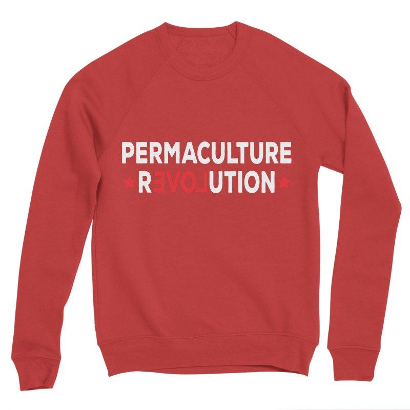 Permaculture Revolution (White) Men's Sponge Fleece Sweatshirt by donvagabond's Artist Shop