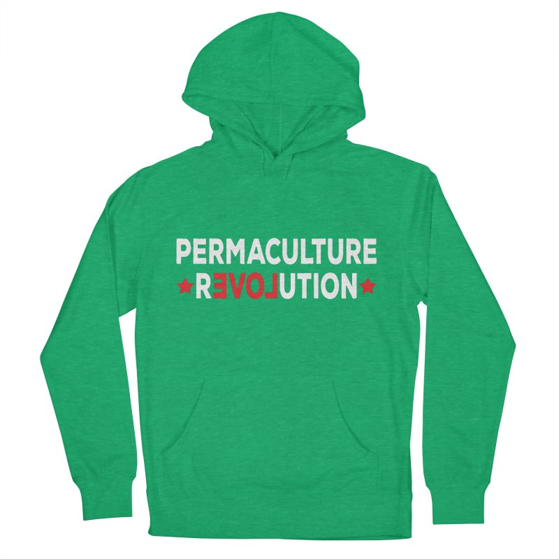 Permaculture Revolution (White) Men's French Terry Pullover Hoody by donvagabond's Artist Shop