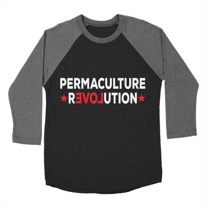 Permaculture Revolution (White) Women's Baseball Triblend Longsleeve T-Shirt by Don Vagabond's Artist Shop