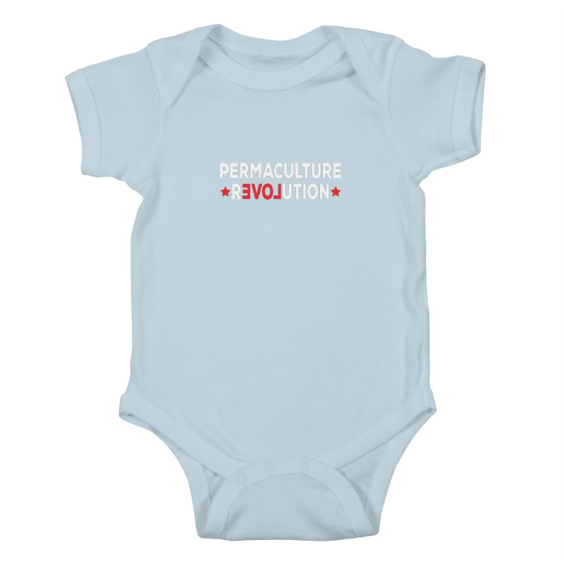 Permaculture Revolution (White) Kids Baby Bodysuit by donvagabond's Artist Shop