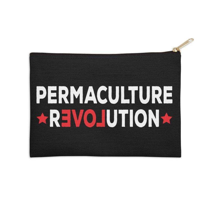Permaculture Revolution (White) Accessories Zip Pouch by donvagabond's Artist Shop