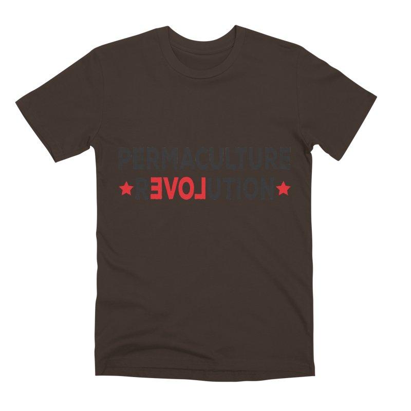 Permaculture Revolution (black) Men's Premium T-Shirt by Don Vagabond's Artist Shop