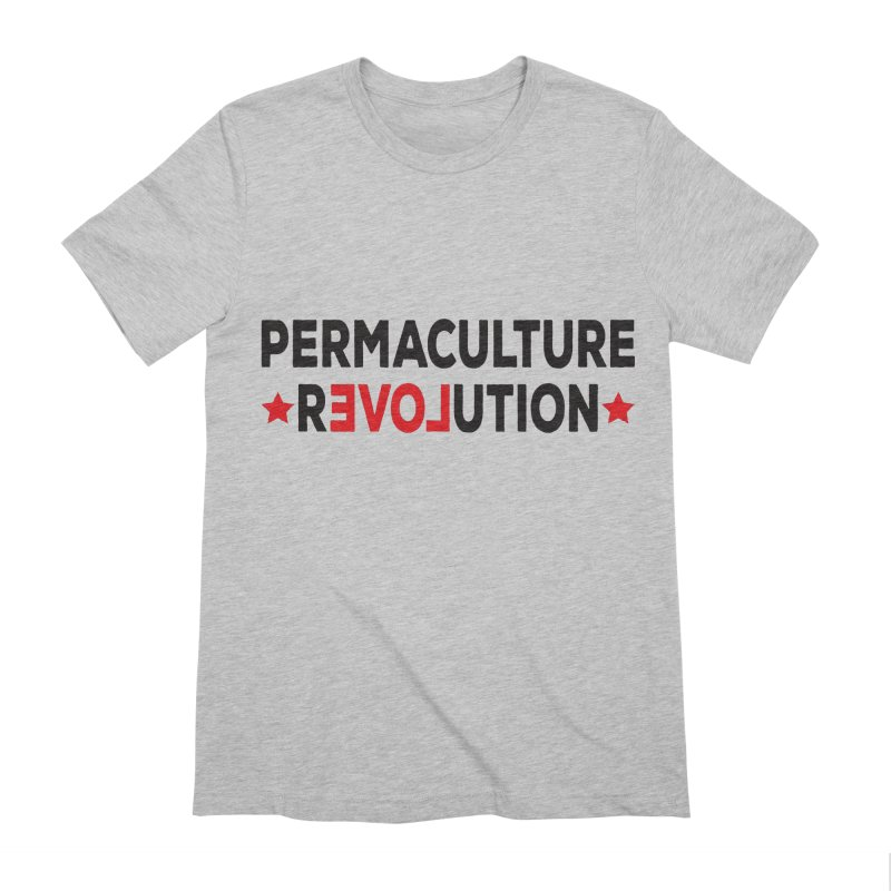 Permaculture Revolution (black) Men's Extra Soft T-Shirt by donvagabond's Artist Shop