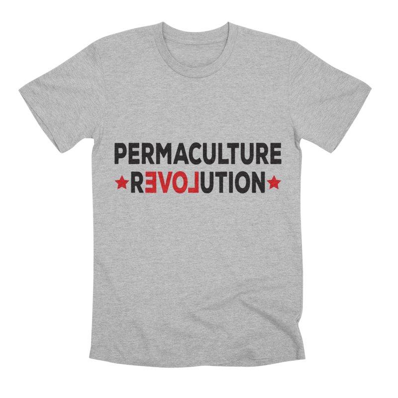 Permaculture Revolution (black) Men's Premium T-Shirt by donvagabond's Artist Shop