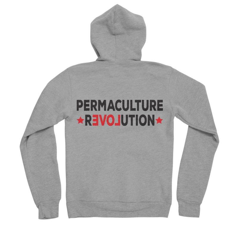 Permaculture Revolution (black) Women's Sponge Fleece Zip-Up Hoody by donvagabond's Artist Shop