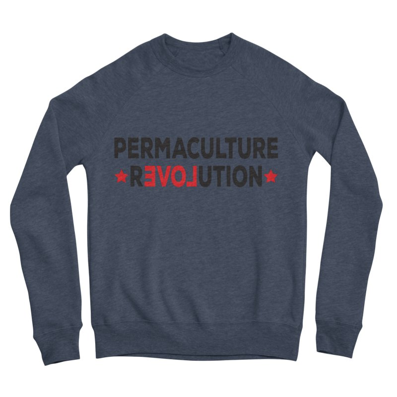 Permaculture Revolution (black) Men's Sponge Fleece Sweatshirt by donvagabond's Artist Shop
