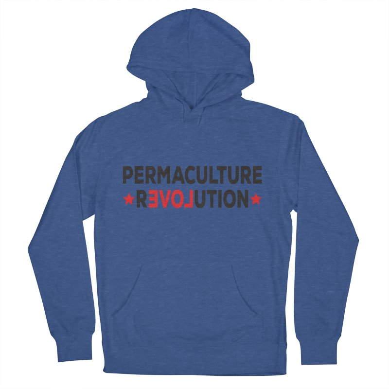 Permaculture Revolution (black) Women's French Terry Pullover Hoody by donvagabond's Artist Shop