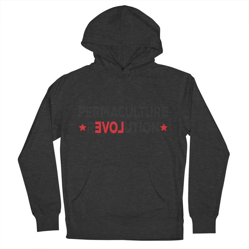 Permaculture Revolution (black) Men's French Terry Pullover Hoody by Don Vagabond's Artist Shop