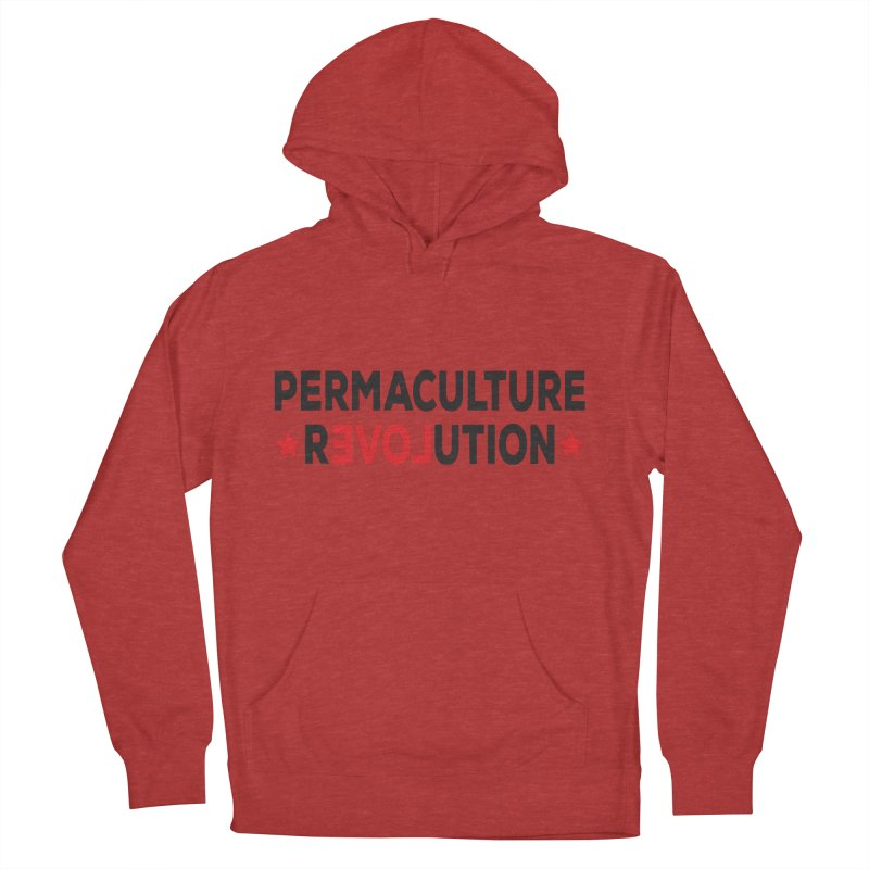 Permaculture Revolution (black) Men's French Terry Pullover Hoody by donvagabond's Artist Shop
