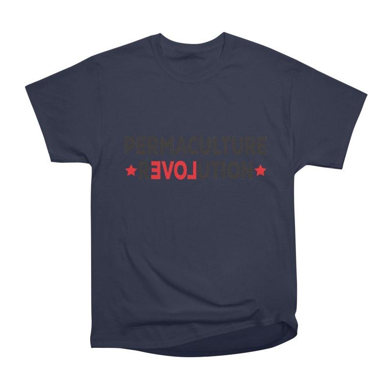 Permaculture Revolution (black) Women's Heavyweight Unisex T-Shirt by Don Vagabond's Artist Shop