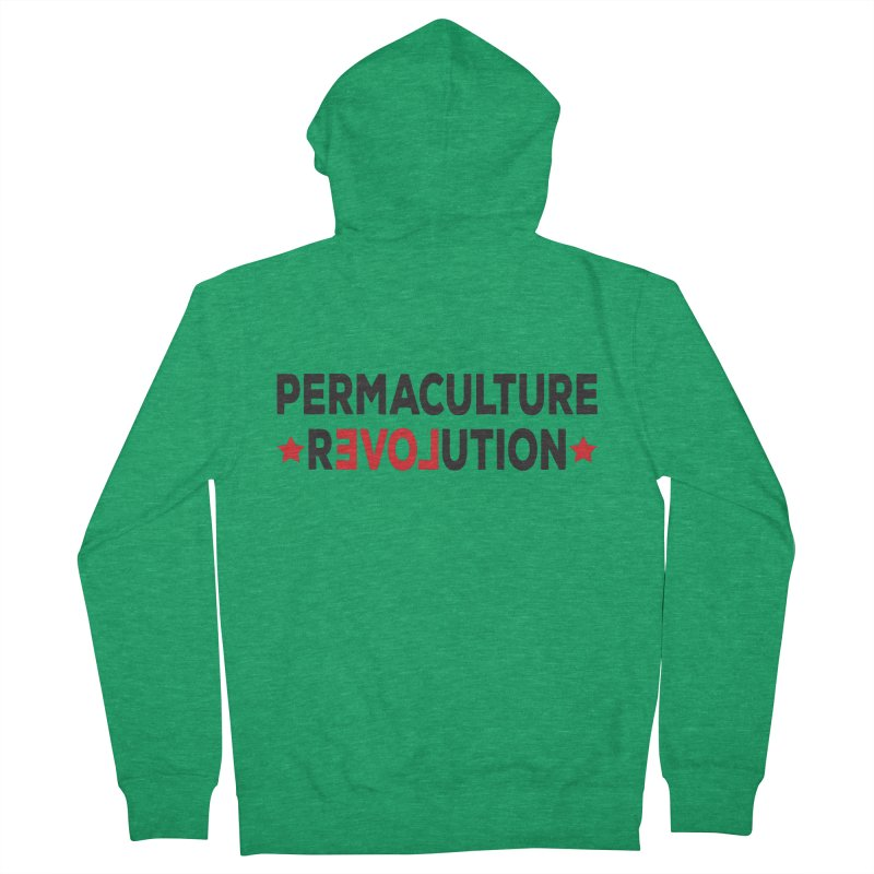 Permaculture Revolution (black) Women's French Terry Zip-Up Hoody by donvagabond's Artist Shop