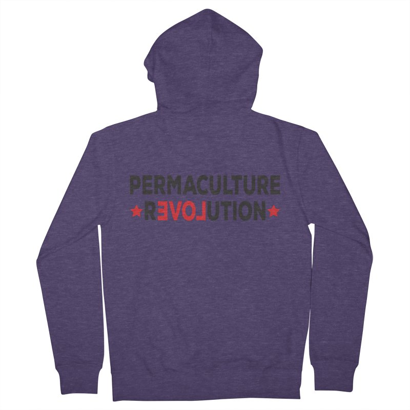 Permaculture Revolution (black) Men's French Terry Zip-Up Hoody by donvagabond's Artist Shop