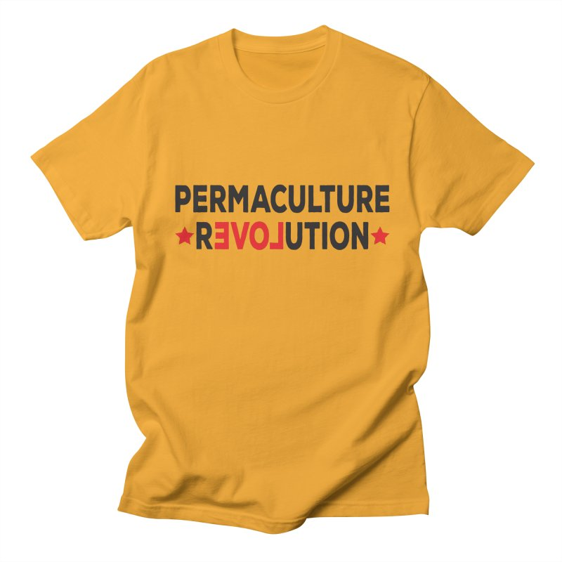 Permaculture Revolution (black) Women's Regular Unisex T-Shirt by donvagabond's Artist Shop