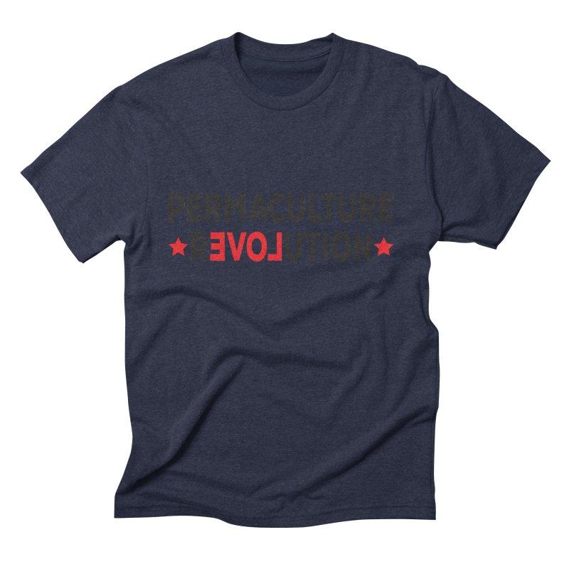Permaculture Revolution (black) Men's Triblend T-Shirt by Don Vagabond's Artist Shop