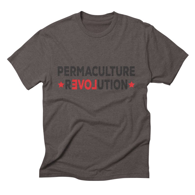 Permaculture Revolution (black) Men's Triblend T-Shirt by Don Vagabond's Artist Shop