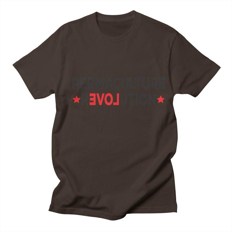 Permaculture Revolution (black) Men's Regular T-Shirt by donvagabond's Artist Shop