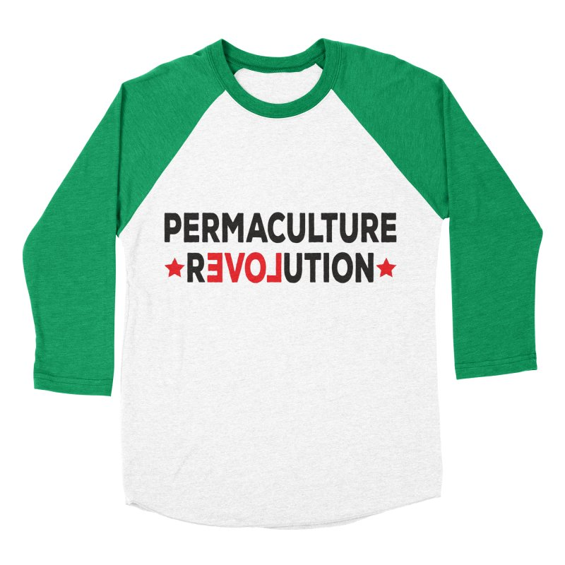 Permaculture Revolution (black) Men's Baseball Triblend Longsleeve T-Shirt by donvagabond's Artist Shop