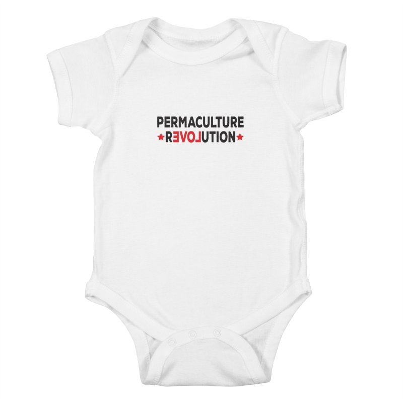 Permaculture Revolution (black) Kids Baby Bodysuit by donvagabond's Artist Shop