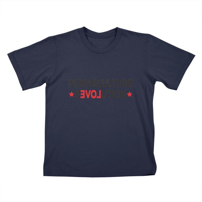 Permaculture Revolution (black) Kids T-Shirt by donvagabond's Artist Shop