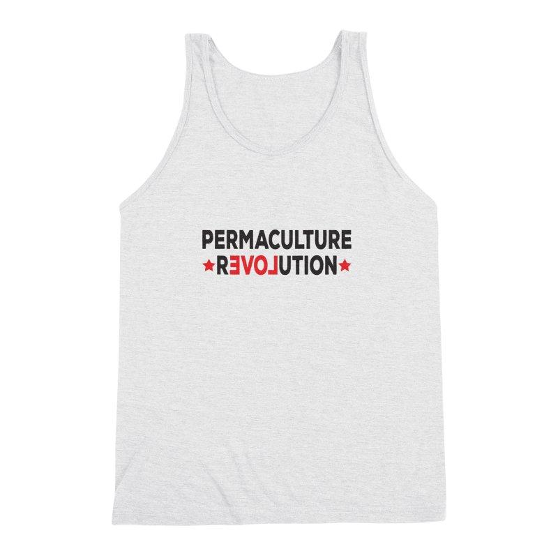 Permaculture Revolution (black) Men's Triblend Tank by donvagabond's Artist Shop