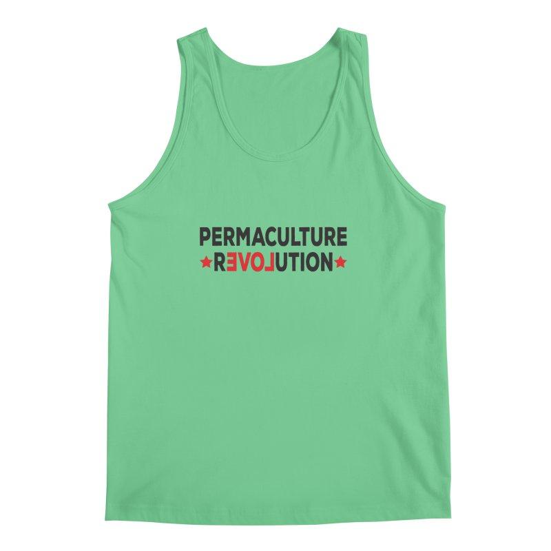 Permaculture Revolution (black) Men's Regular Tank by donvagabond's Artist Shop
