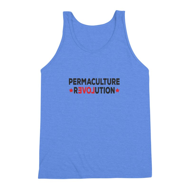 Permaculture Revolution (black) Men's Triblend Tank by donvagabond's Artist Shop