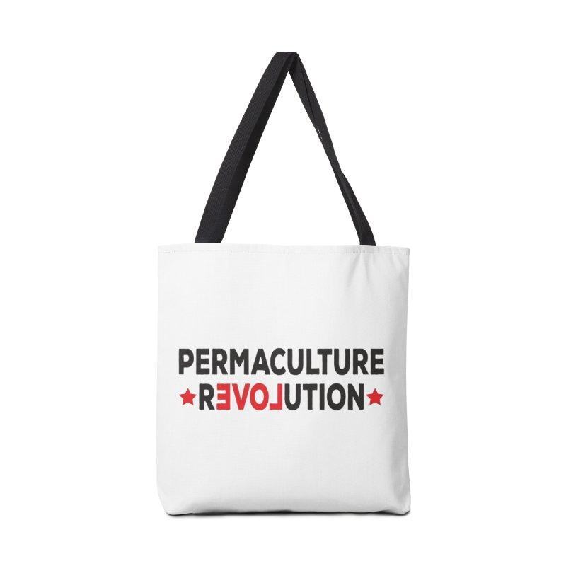 Permaculture Revolution (black) Accessories Tote Bag Bag by Don Vagabond's Artist Shop