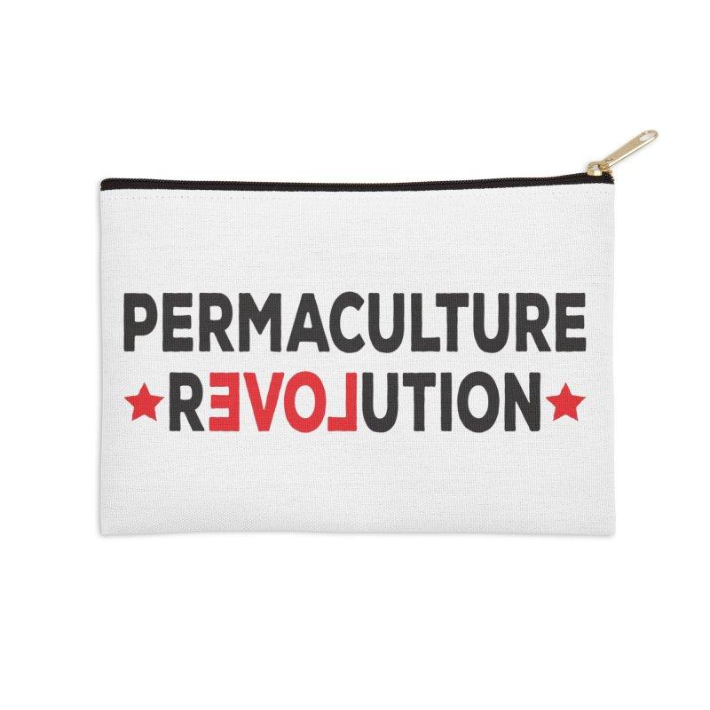 Permaculture Revolution (black) Accessories Zip Pouch by donvagabond's Artist Shop