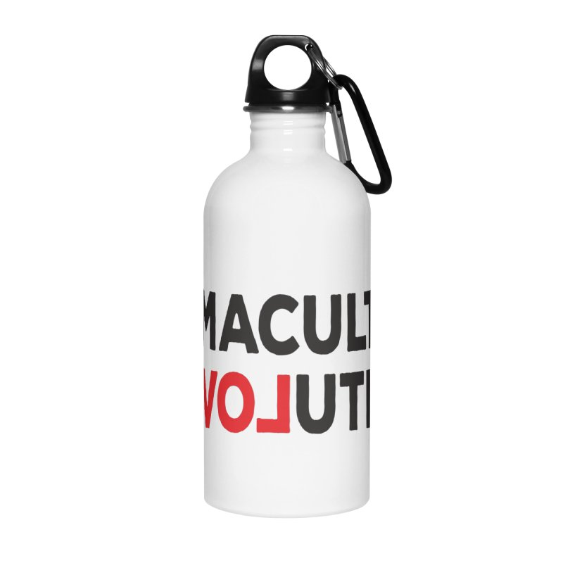 Permaculture Revolution (black) Accessories Water Bottle by Don Vagabond's Artist Shop