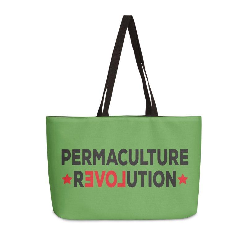 Permaculture Revolution (black) Accessories Weekender Bag Bag by Don Vagabond's Artist Shop