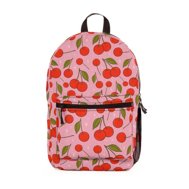 Cherries on Top Print Accessories Bag by doodlebymeg's Artist Shop