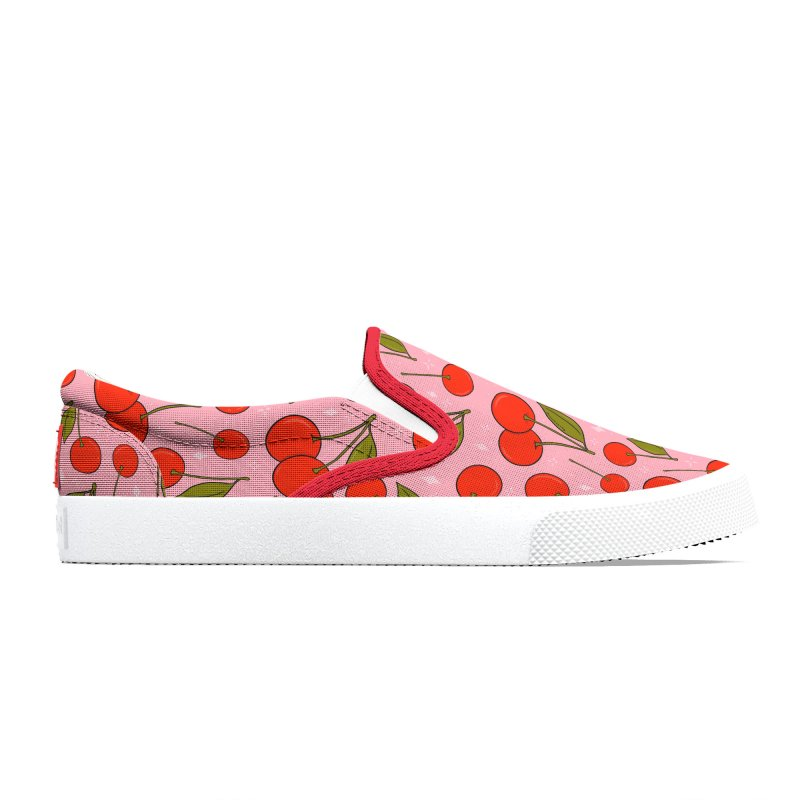 Cherries on Top Print Men's Shoes by doodlebymeg's Artist Shop