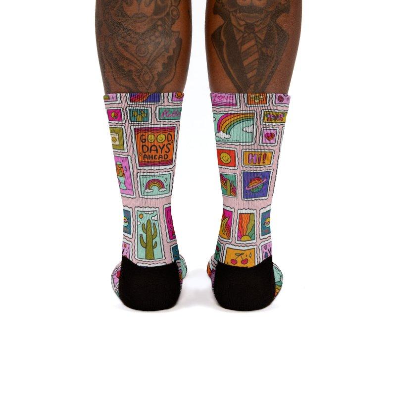 Stamp Print Women's Socks by doodlebymeg's Artist Shop