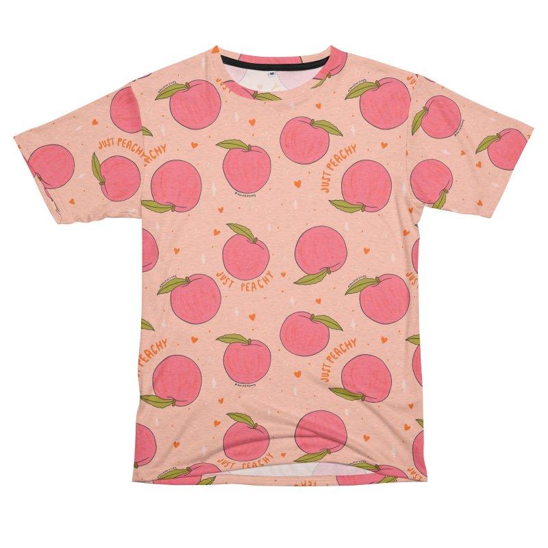 Peach Print Men's Cut & Sew by doodlebymeg's Artist Shop