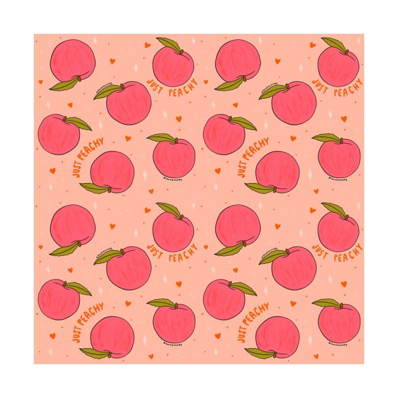 Peach Print Men's Cut & Sew by doodlebymeg's Artist Shop