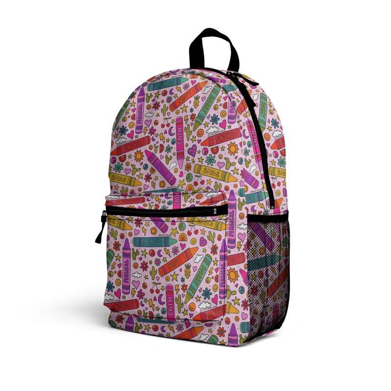 Crayon Print Accessories Bag by doodlebymeg's Artist Shop