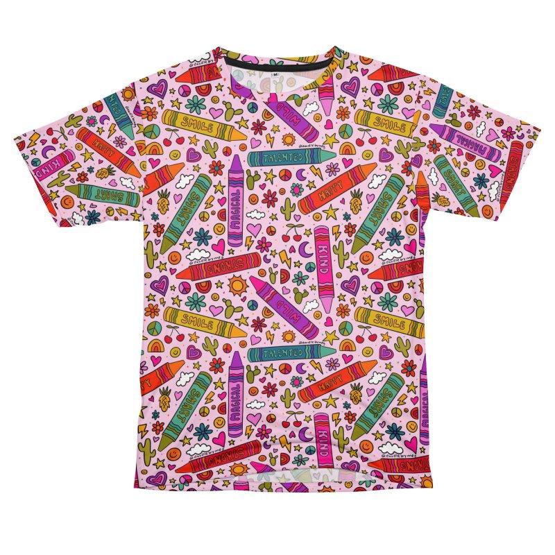 Crayon Print Men's Cut & Sew by doodlebymeg's Artist Shop