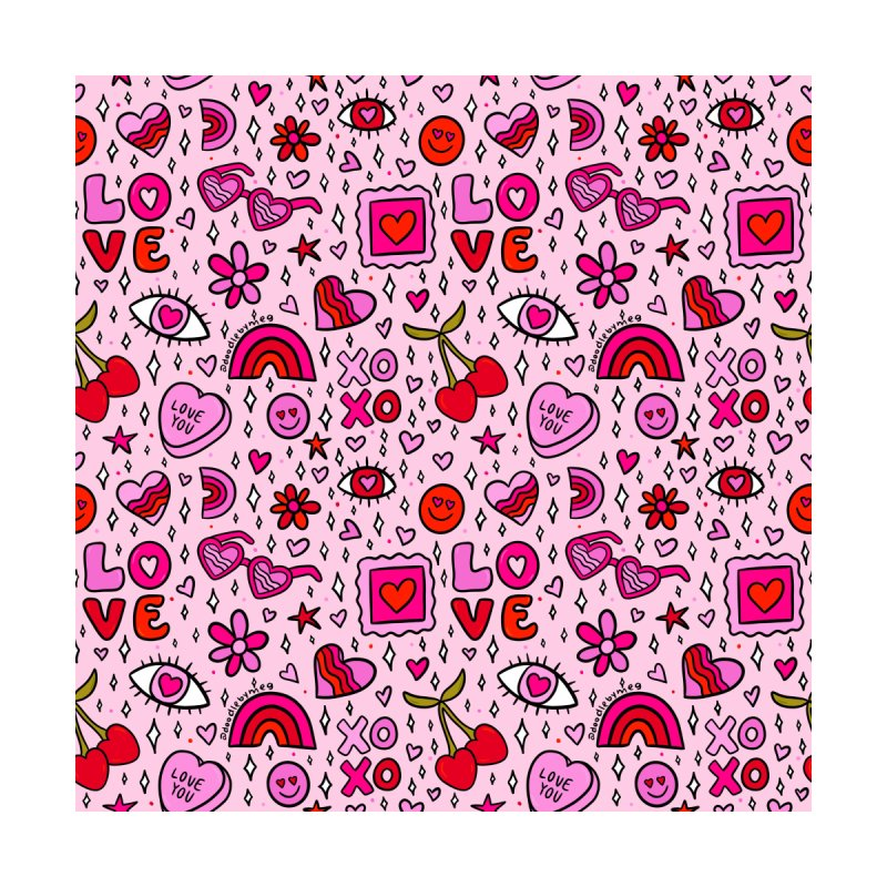 Valentines Print Home Stretched Canvas by doodlebymeg's Artist Shop