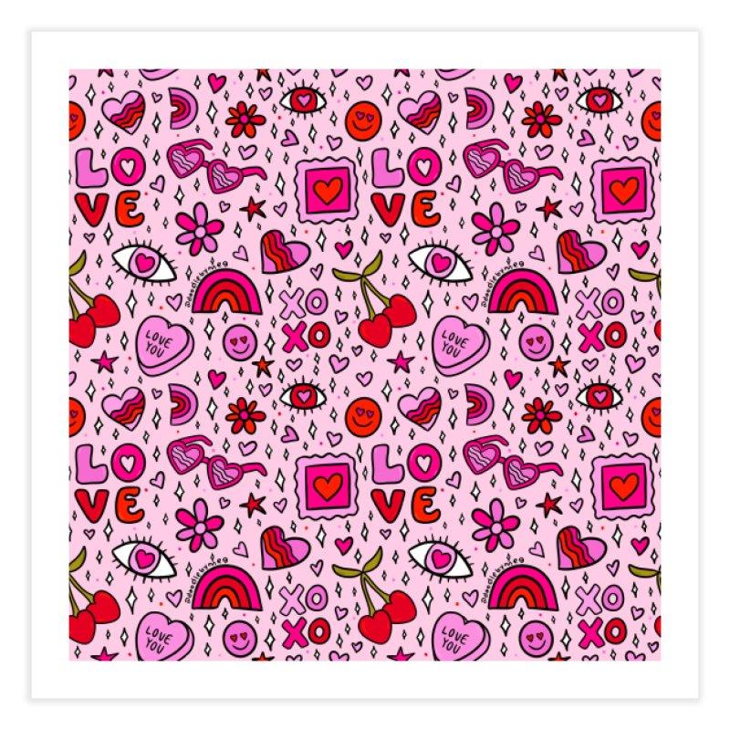 Valentines Print Home Fine Art Print by doodlebymeg's Artist Shop