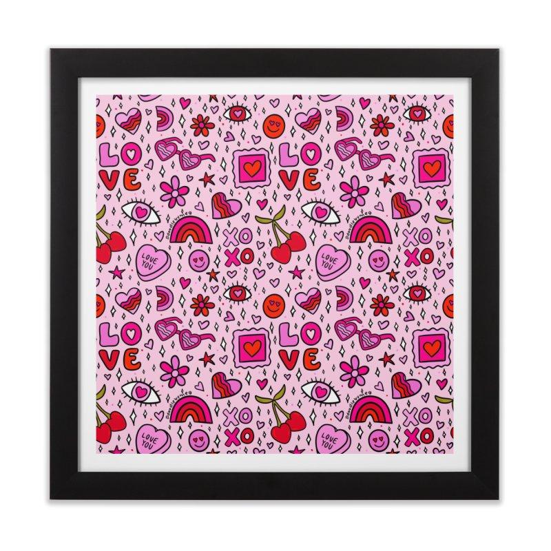 Valentines Print Home Framed Fine Art Print by doodlebymeg's Artist Shop
