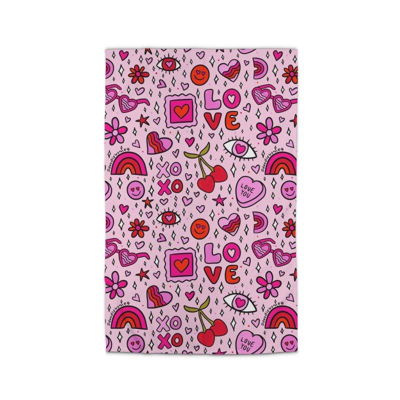 Valentines Print Home Rug by doodlebymeg's Artist Shop