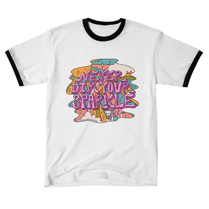 Never Dim Your Sparkle Men's T-Shirt by doodlebymeg's Artist Shop