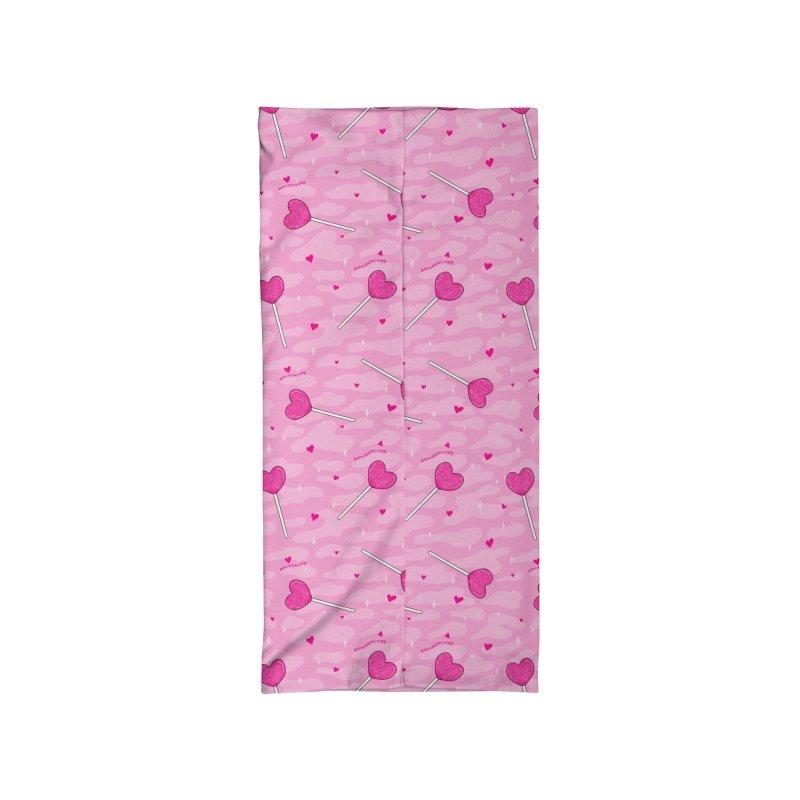 Valentine Lollipop Print Accessories Neck Gaiter by doodlebymeg's Artist Shop