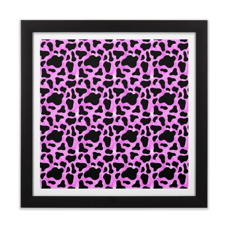 Purple Cow Print Home Framed Fine Art Print by doodlebymeg's Artist Shop