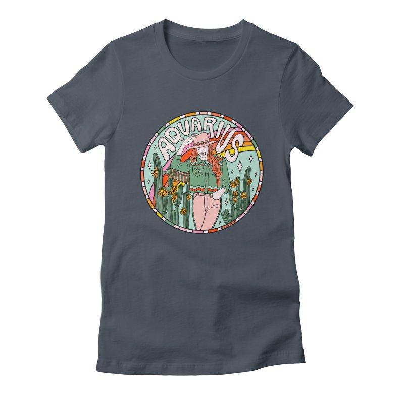 Aquarius Cowgirl Women's T-Shirt by doodlebymeg's Artist Shop